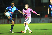 Matty Done crosses the ball during the EFL Sky Bet League 1 match between Wycombe Wanderers and Rochdale at Adams Park, High Wycombe, England on 23 October 2018.