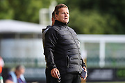 Forest Green Rovers manager, Mark Cooper during the Pre-Season Friendly match between Forest Green Rovers and Leeds United at the New Lawn, Forest Green, United Kingdom on 17 July 2018. Picture by Shane Healey.