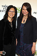 "21 April 2010- New York, NY- l to r: Theresa Chang and Gina Shay at The World Premiere of Dreamwork Animation's "" Shrek Forever After "" for the Opening Night of the 2010 Tribeca Film Festival held at the Zeigfeld Theater on April 21, 2010 in New York City."