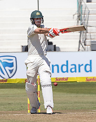 Durban. 020318. KShaun Marsh of Australia strikes the ball during the Sunfoil Test match played at Kingsmead, Durban. Picture Leon Lestrade/African News Agancy/ANA.