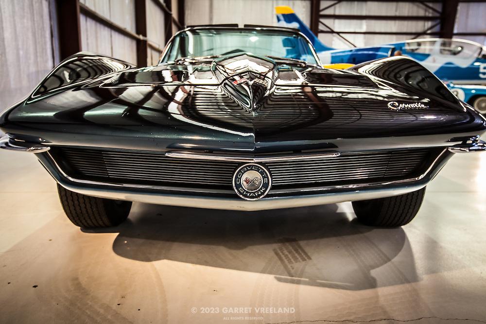 Corvette Shark badge, Planes and Cars at the Santa Fe Airport, 2013 Santa Fe Concorso.