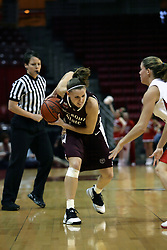 13 January 2007: Roxanne Stiles plays keep away from Megan McCracken. The Missouri State Bears lost to the Redbirds of Illinois State University at Redbird Arena in Normal Illinois by a score of 76-47.<br />