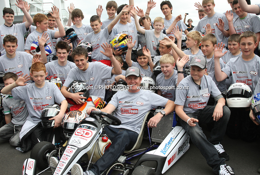 New Zealand Motorsport legend Scott Dixon during a photo call at the Hilton Hotel after signing a sponsorship deal with Repco and Canteen. Auckland, Tuesday 24 September 2008. Photo: Andrew Cornaga/PHOTOSPORT