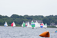 _V0A8084. ©2014 Chip Riegel / www.chipriegel.com. The 2014 Bullseye Class National Regatta, Fishers Island, NY, USA, 07/19/2014. The Bullseye is a Nathaniel Herreshoff designed 15' Marconi rig sailing boat.