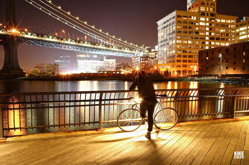 Manhattan Brigde from Brooklyn Bridge Park.