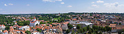 Panoramic view of Old Town/Senamiestyje, from the Vilnius University Bell Tower, Vilnius, Lithuania