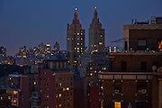 View of the San Remo towers from 201 West 70th Street, 23rd floor
