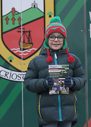 Mayo fan Cathal Kelly from Swinford pictured at the Mayo v Dublin league match at McHale park.<br /> Pic Conor McKeown