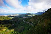 Pali Highway, Kaneohe, Oahu, Hawaii.