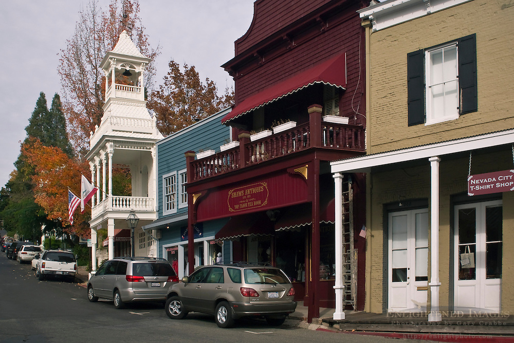 Old western town of Nevada City, California
