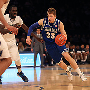 Patrik Auda, Seton Hall, in action during the Villanova Wildcats Vs Seton Hall Pirates basketball game during the Big East Conference Tournament at Madison Square Garden, New York, USA. 12th March 2014. Photo Tim Clayton