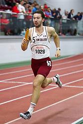 BU Terrier Indoor track meet<br /> 4x400 relay, BC, Davies