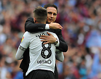 Football - 2018 / 2019 EFL Sky Bet Championship Play-Off Final - Aston Villa vs. Derby County<br /> <br /> Mason Mount of Derby is consoled  by Manager, Frank Lampard at the final whistle at Wembley Stadium.<br /> <br /> COLORSPORT/ANDREW COWIE