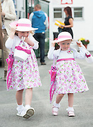 29/07/2014  Sinead and Clodagh McSorley from Portstewart at the Wednesday meeting of the Galway Summer racing Festival. Photo: Andrew Downes