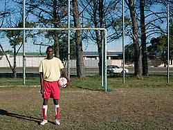 Aug. 22, 2012 - Portrait of a footballer (Credit Image: © Image Source/ZUMAPRESS.com)