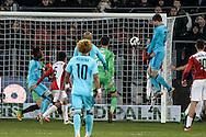 27-11-2016: Voetbal: FC Utrecht v Feyenoord: Utrecht<br /> <br /> (L-R) invaller Feyenoord speler Michiel Kramer scoort de gelijk maker tijdens het Eredivsie duel tussen FC Utrecht en Feyenoord op 27 november 2016 in stadion Galgenwaard in Utrecht tijdens speelronde 14<br /> <br /> Eredivisie - Seizoen 2016 / 2017<br /> <br /> Foto: Gertjan Kooij