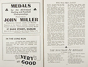 All Ireland Senior Hurling Championship Final,.Brochures,.02.09.1945, 09.02.1945, 2nd September 1945,.Tipperary 5-6, Kilkenny 3-6, .Minor Dublin v Tipperary, .Senior Tipperary v Kilkenny, .Croke Park, ..Advertisements, John Miller Manufacturing Goldsmith Jeweller and Medallist, Elvery's are Good, ..Poems, The Boatman of Kinsale,