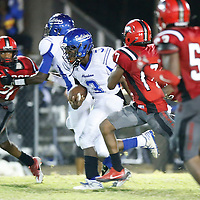 Thomas Wells | Buy at PHOTOS.DJOURNAL.COM<br /> Aberdeen's Dajaun Rogers gets past the Shannon defensive front and makes into the secondary for a first down in the third quarter Friday night.