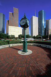 Houston, Texas skyline featuring the Sweeney Clock Triangle.