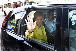 A candidata ao governo do Estado do RS, Yeda Crusius (PSDB) deixa a sede do partido após reunião com o conselho politico. FOTO: Jefferson Bernardes/Preview.com