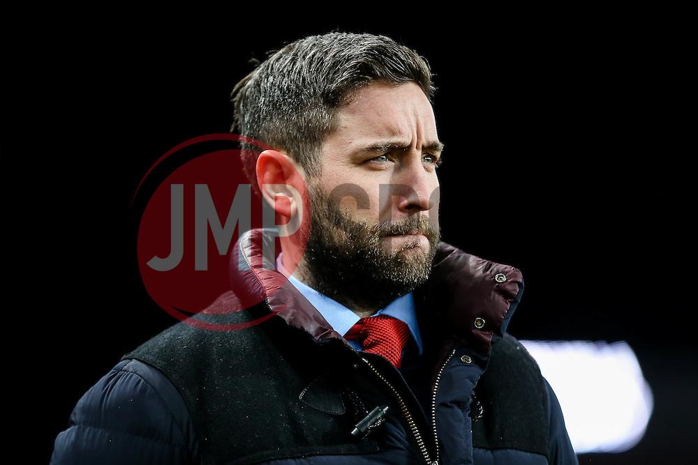 Bristol City manager Lee Johnson - Rogan Thomson/JMP - 28/02/2017 - FOOTBALL - Villa Park - Birmingham, England - Aston Villa v Bristol City - Sky Bet EFL Championship.
