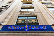Turkish bank, Turkiye Bankasi, in Istanbul, Republic of Turkey