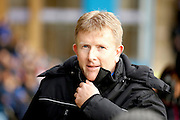 Gillingham head coach Adrian Pennock first game in charge during the EFL Sky Bet League 1 match between Gillingham and Shrewsbury Town at the MEMS Priestfield Stadium, Gillingham, England on 28 January 2017. Photo by Andy Walter.