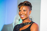 Denise Lewis - UK charity, Sport for Freedom (SFF), marks Anti-Slavery Day 2015 by hosting a charity Gala Dinner, supported by Aston Martin, on Thursday 15th October at Stamford Bridge, home of Chelsea Football Club. This inaugural event brought together people from the world of sport, entertainment, media, and business to unite behind a promise to tackle the issue of modern day human trafficking and slavery.  <br /> Hosted by Sky presenters Sarah-Jane Mee and Jim White, the Sport for Freedom Gala Dinner includes guests such as jockey AP McCoy OBE; Denise Lewis, former British Olympic Gold Medal winner; BBC Strictly star, Brendan Cole; Al Bangura, former Watford FC player and Sport for Freedom Ambassador who was trafficked from Africa to the UK at the age of just 14yrs old; Made in Chelsea star, Ollie Proudlock; ITV weather presenter, Lucy Verasamy; Sky Sports F1 presenter and SFF Ambassador, Natalie Pinkham; Premier League footballers Ryan Bertrand of Southampton FC and Troy Deeney of Watford FC and champion boxer, Anthony Joshua; and The UK's first independent Anti Slavery Commissioner, Kevin Hyland OBE, who highlighted the issues of modern day slavery that face the UK and world today. <br /> The evening concluded with chart topping music from 'Naughty Boy'. <br /> Sport for Freedom are also joining forces with the Premier League Academies for an international  'Football for Freedom' tournament with their U16's players that will also involve educating those taking part about the issues surrounding modern day slavery. The final will take place at Liverpool FC's Academy on Anti-Slavery Day, 18th October.