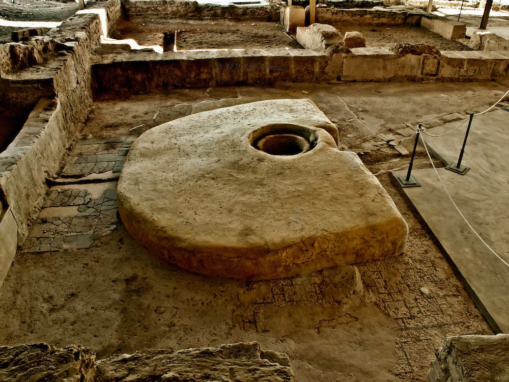 """Ancient Roman dining couch as excavated at Almenadilla, near Cordoba.  The site known in Spain as Villa Romana de """"el Ruedo."""" Appears to have been a sanitarium or hospice where sick people went to be cared for until death."""