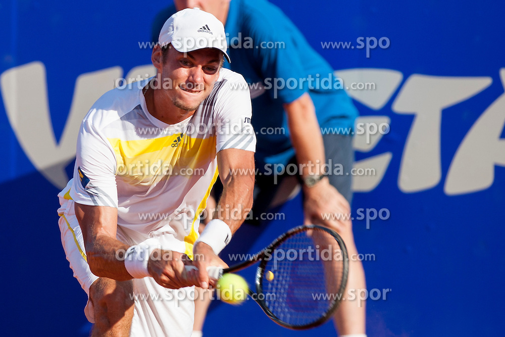 Andreas Haider-Maurer (AUT) during a tennis match against the Andreas Seppi (ITA) in 2nd round of singles at 24 ATP Vegeta Croatia Umag 2013, on July 25, 2013, in Umag, Croatia. (Photo by Urban Urbanc / Sportida)