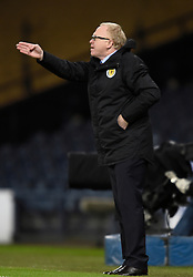 Scotland manager Alex McLeish during the international friendly match at Hampden Park, Glasgow. RESTRICTIONS: Use subject to restrictions. Editorial use only. Commercial use only with prior written consent of the Scottish FA.