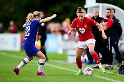 Yana Daniels of Bristol City is marked by Aimee Watson of Bristol City - Mandatory by-line: Ryan Hiscott/JMP - 29/09/2019 - FOOTBALL - SGS College Stoke Gifford Stadium - Bristol, England - Bristol City Women v Chelsea Women - FA Women's Super League