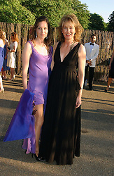 Left to right, ELIZABETH PEYTON-JONES and JULIA PEYTON-JONES at the Serpentine Gallery Summer party sponsored by Yves Saint Laurent held at the Serpentine Gallery, Kensington Gardens, London W2 on 11th July 2006.<br />