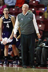 07 December 2012:  Joe McKeown during an NCAA women's basketball game between the Northwestern Wildcats and the Illinois Sate Redbirds at Redbird Arena in Normal IL