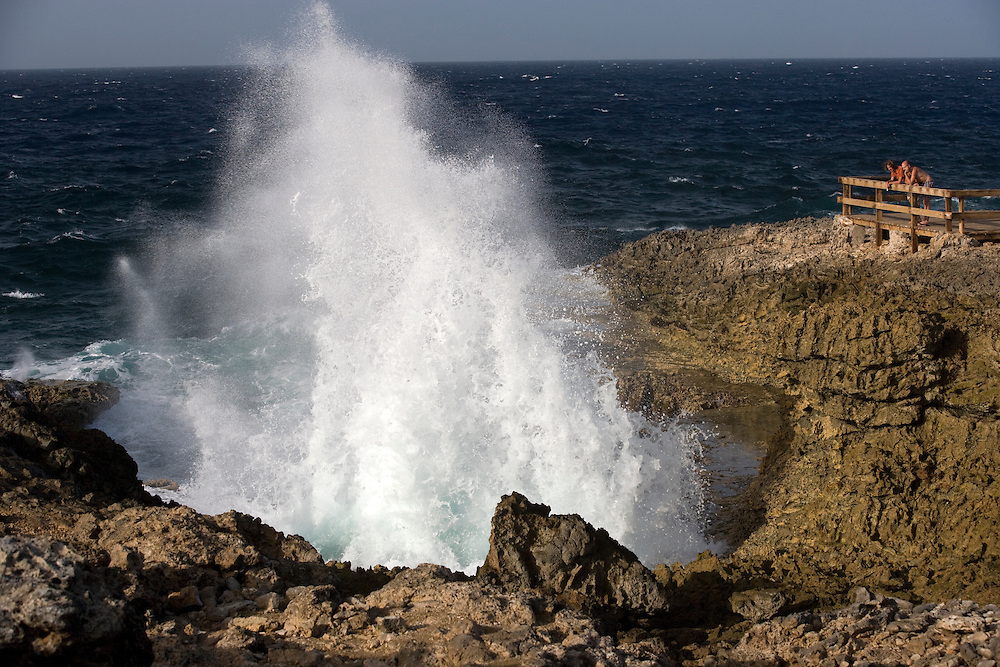 Blow hole, Curacao, Netherland Antilles