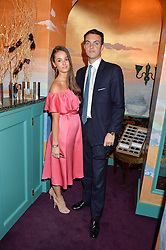 OLIVIA CALLAGHAN and VISCOUNT ERLEIGH at a party for the UK launch of Mr Boho held at Annabel's, 44 Berkeley Square, London on 19th May 2016.