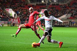David Cotterill of Bristol City closes down the ball - Mandatory by-line: Dougie Allward/JMP - 22/02/2017 - FOOTBALL - Ashton Gate - Bristol, England - Bristol City v Fulham - Sky Bet Championship