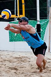 Jure Peter Bedrac at Zavarovalnica Triglav Beach Volley Open as tournament for Slovenian national championship on July 29, 2011, in Preddvor, Slovenia. (Photo by Matic Klansek Velej / Sportida)