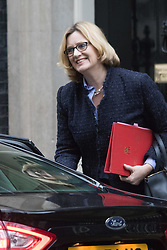 Downing Street, London, February 11th 2016. Energy Secretary Amber Rudd attends the weekly cabinet meeting. <br /> &copy;Paul Davey<br /> FOR LICENCING CONTACT: Paul Davey +44 (0) 7966 016 296 paul@pauldaveycreative.co.uk