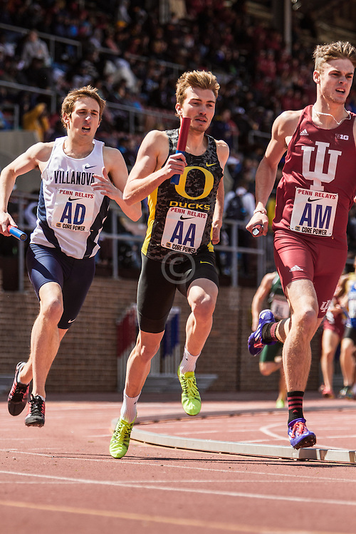 Penn Relays, College Mens Distance Medley Relay, Niki Franzmair, Oregon