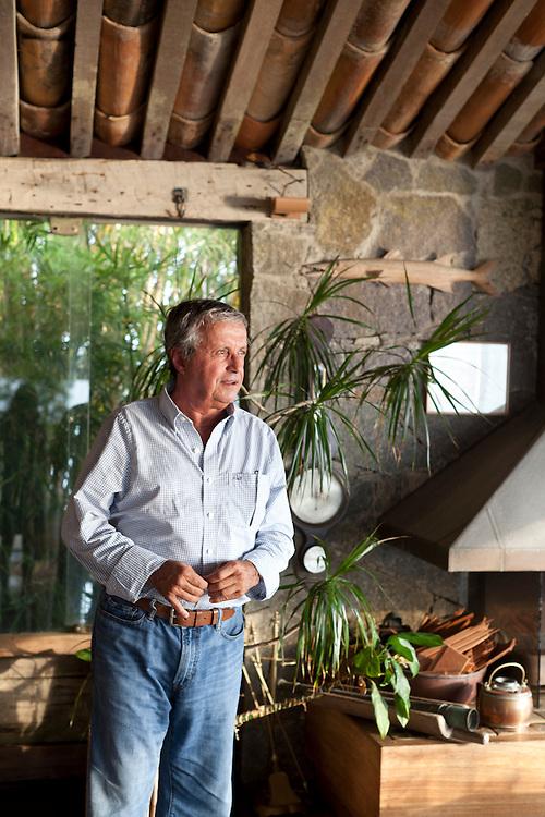 Architect Octavio Raja Gabaglia at his home, in Buzios.