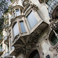 Edificio de la calle La Diagonal en Barcelona, España. Building on Calle Diagonal in Barcelona, ​​Spain.