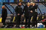 27-02-2016 VOETBAL:VITESSE - WILLEM II:ARNHEM<br /> Trainer/Coach Jurgen Streppel van Willem II en Adrie Bogers vieren de overwinning<br /> Foto: Geert van Erven