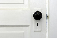 Doorknob on white door