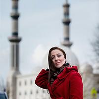 Nederland, Rotterdam, 31 maart 2016.<br /> Leyla Cakir, sociaal werker in Rotterdam.<br /> Al Nisa ('de vrouwen') is een vrijwilligersorganisatie voor moslimvrouwen en kinderen en voor vrouwen met interesse voor de islam.<br /> Foto: Jean-Pierre Jans