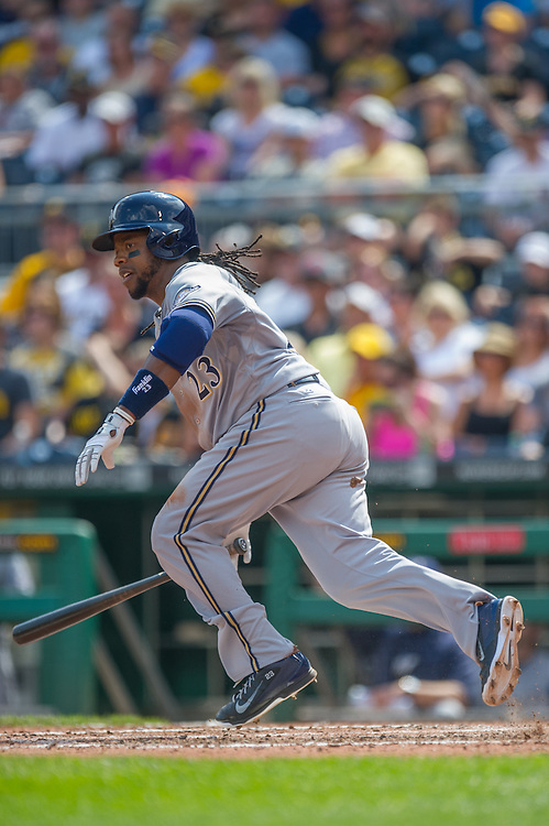 PITTSBURGH, PA - JUNE 08: Rickie Weeks #23 of the Milwaukee Brewers runs the bases during the game against the Pittsburgh Pirates at PNC Park on June 8, 2014 in Pittsburgh, Pennsylvania. (Photo by Rob Tringali) *** Local Caption *** Rickie Weeks