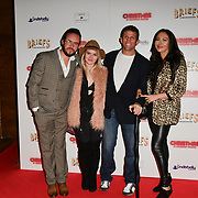 Alex Reid and guests attends Briefs: Close Encounters - press night an All-male 'Boylesque' group show off their circus skills, drag acts and raucous comedy routines at The Spiegeltent Leicester Square on 14 November 2018, London, UK.
