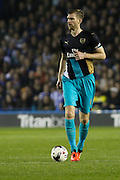 Arsenal defender Per Mertesacker looks for a pass during the Capital One Cup Fourth Round match between Sheffield Wednesday and Arsenal at Hillsborough, Sheffield, England on 27 October 2015. Photo by Aaron Lupton.