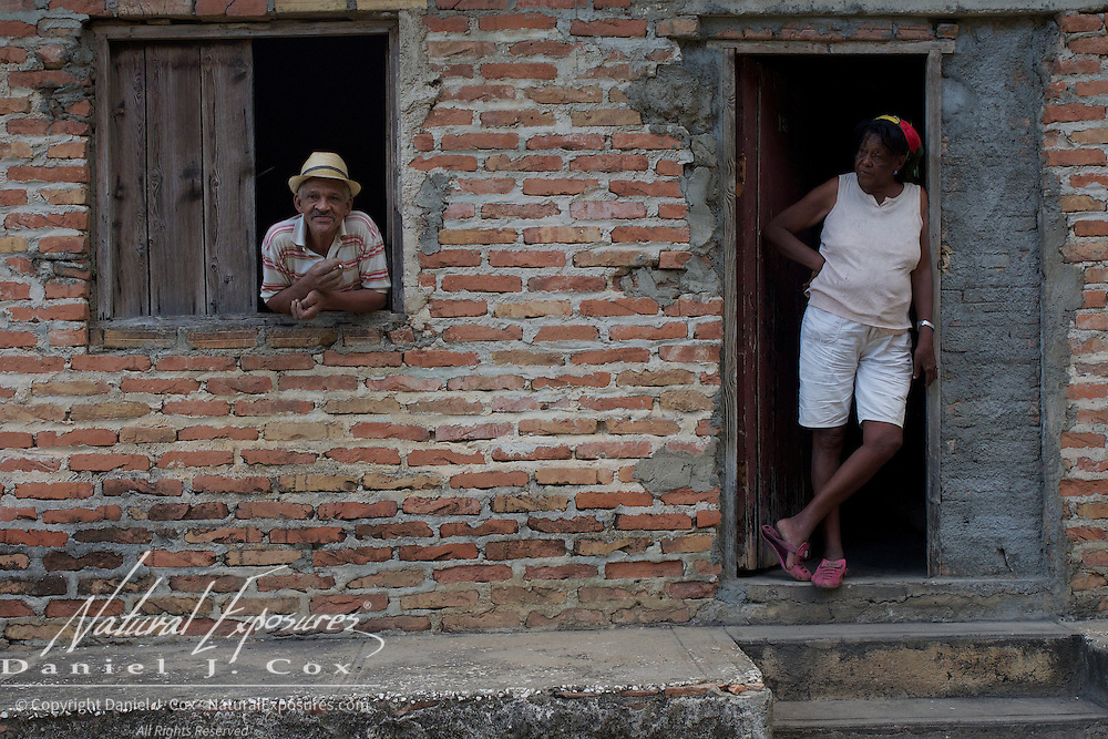 A man and his wife at their home in Trinidad, Cuba.