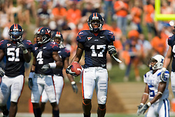 Virginia safety Brandon Woods (17)..The Virginia Cavaliers defeated the Duke Blue Devils 23-14 at Scott Stadium in Charlottesville, VA on September 8, 2007  With the loss, Duke extended their longest-in-the-nation losing streak to 22 games.